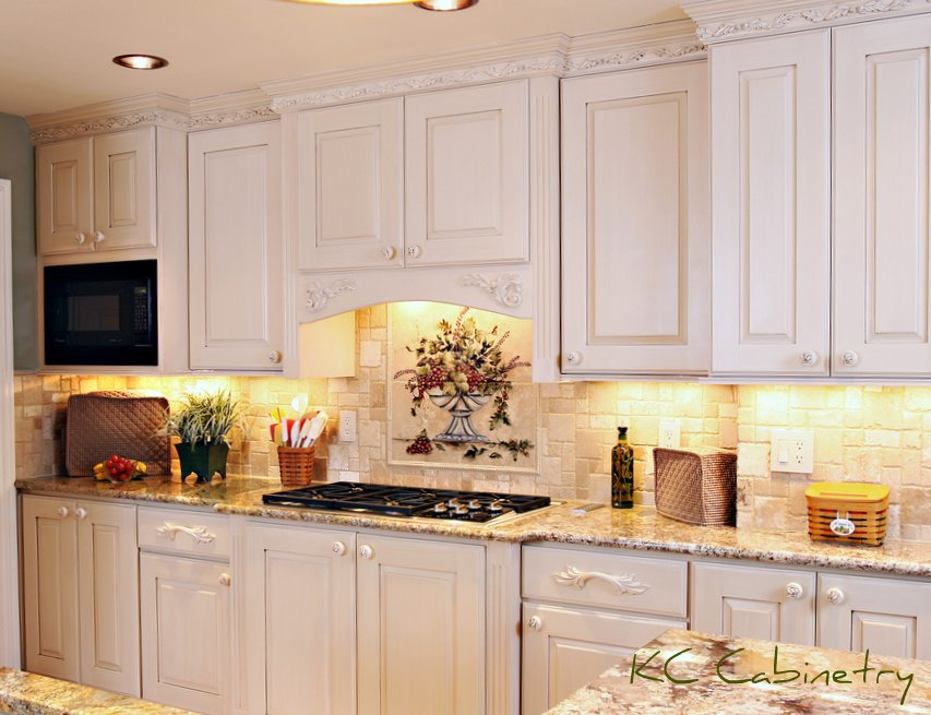 Kc cabinetry design and renovation white paint and brown for Photos of white glazed kitchen cabinets