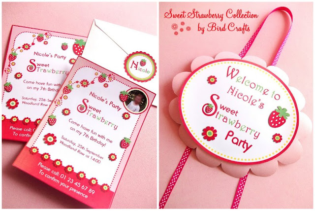strawberry printables  strawberry shortcake ideas   birthday parties baby showers bridal showers http://www.frostedevents.om