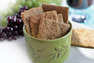 Gluten free crackers and appetizer and snack recipes by Gluten Free Goddess