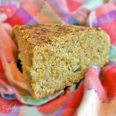 Tender gluten-free cornbread, Santa Fe style