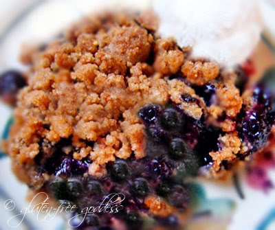 Easy gluten free blueberry crisp