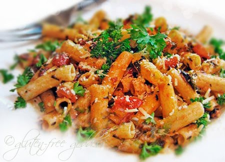 Gluten-free penne arrabiata