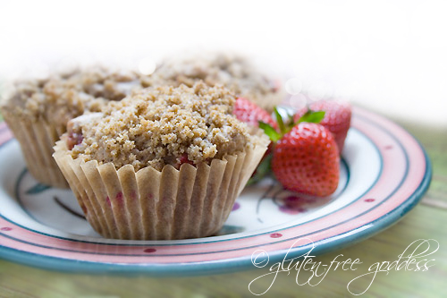 Strawberry rhubarb muffin recipe that is gluten free and vegan