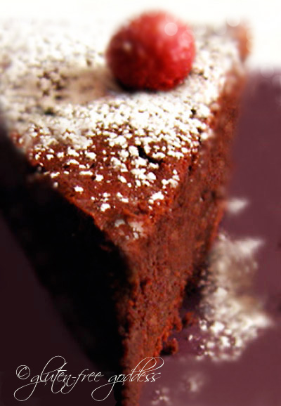 Gluten free dark chocolate cake
