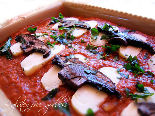 Brown rice noodles make this vegetarian lasagna gluten free