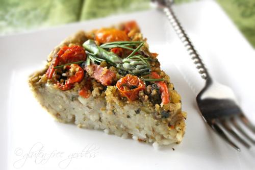 Vegan Pasta Pie with Mushrooms, Garlic and Tomatoes - Gluten-Free ...