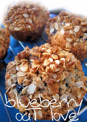Blueberry Oat Muffins - Vegan recipe - Wheat-free Gluten-Free