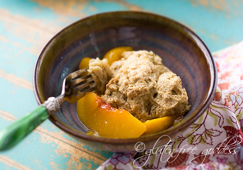 I love this new peach cobbler so much I ate it for breakfast