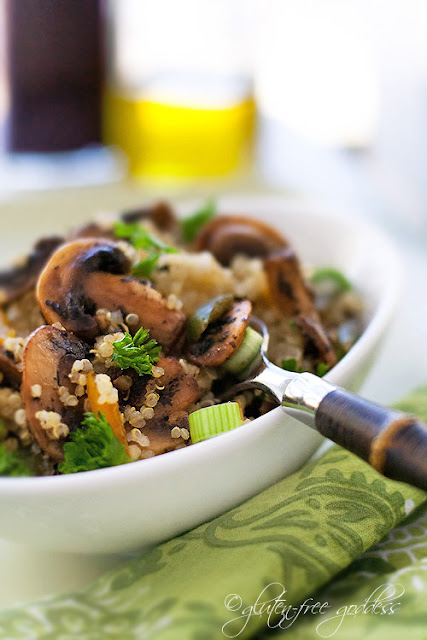 Quinoa Mushroom Pilaf - Gluten-Free Goddess Recipes