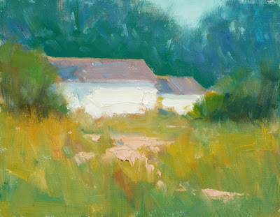 Painting Cape Cod cottage by Steve Allrich