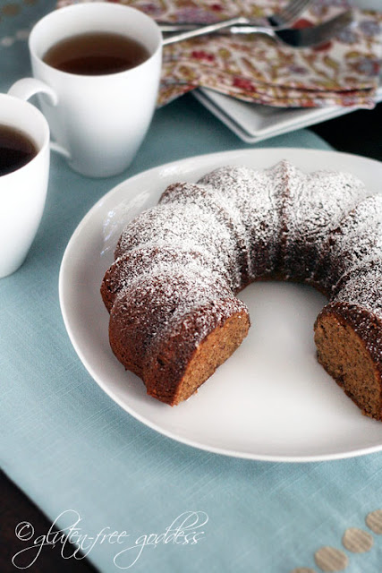 Banana Bundt cake made with almond flour
