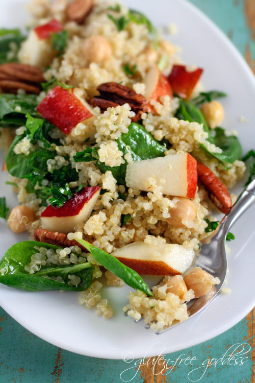 ... spinach and chick peas karina s quinoa salad recipe with pears baby