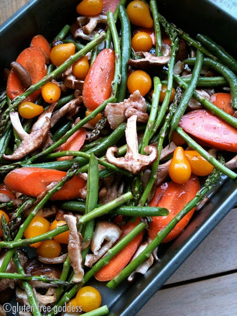 Cider roasted veggies for Thanksgiving- vegan and gluten-free