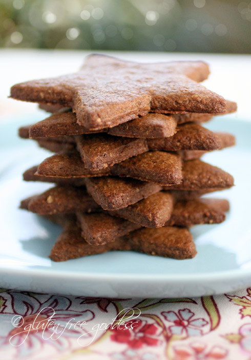 Gluten free gingersnap cookies in star cut out shapes for a vegan ...
