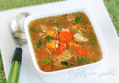 Easy turkey soup is a bowl of comfort food