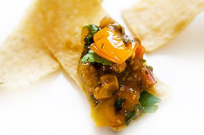 Roasted Yellow Tomato Salsa Recipe with Cilantro - Gluten-Free Goddess ...