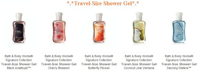 *.* Travel Size Shower Gel *.*