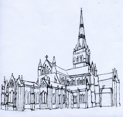 Salisbury Cathedral Drawings Salisbury Cathedral v The