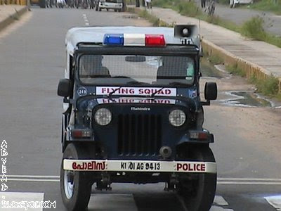 Indian Police Vehicle Jeep_ Kerala Jeep