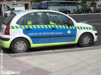 Madrid Spain Police Car