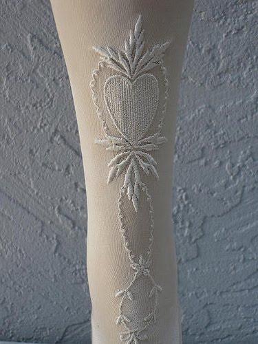 white silk stockings