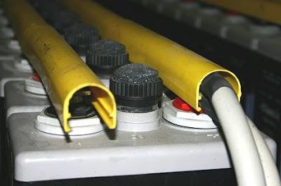 Detalle del cable de salida