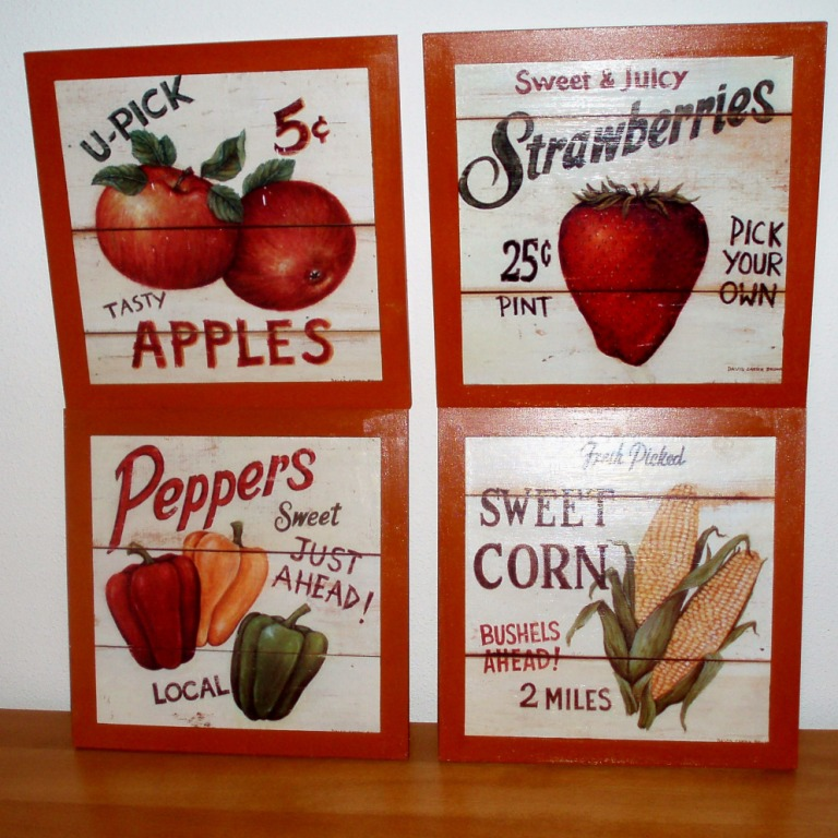 El rinc n de manora cuadros cocina frutas y verduras - Cuadros cocina vintage ...