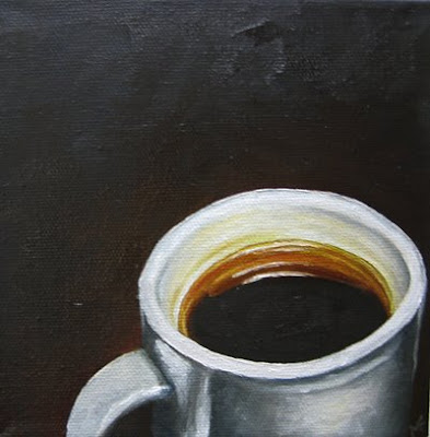 oil coffee painting