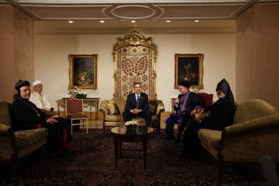Obama com os líderes espirituais de Istambul
