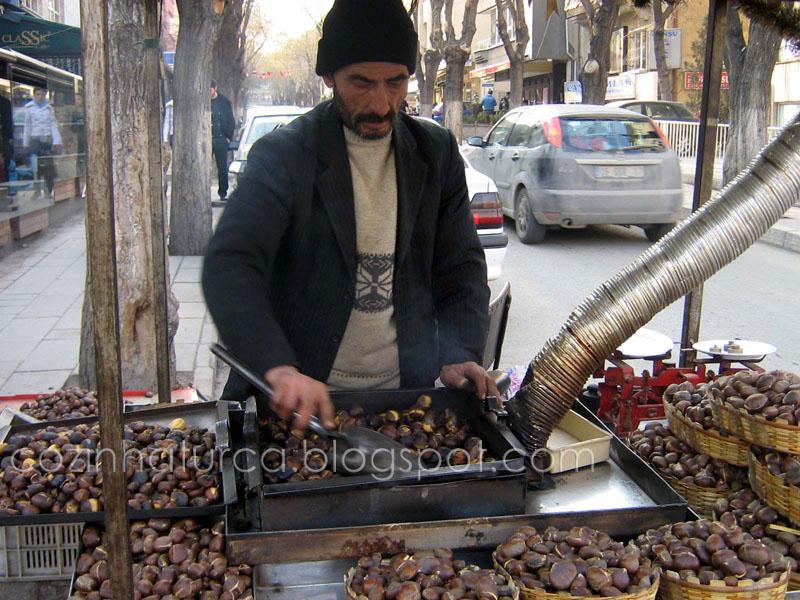Vendedor de castanhas assadas