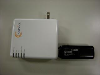 新しい無線ルータとイーモバイルを接続したところ