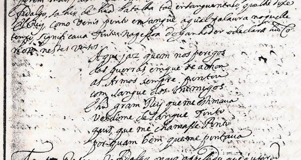 Versos sobre a origem da família Pinto