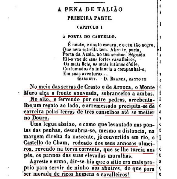 Descrição da Torre de Chã, 1856