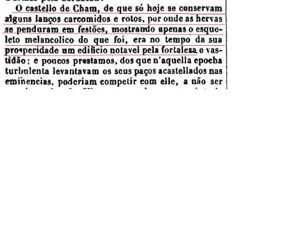Descrição da Torre de Chã (Cham), em 1856