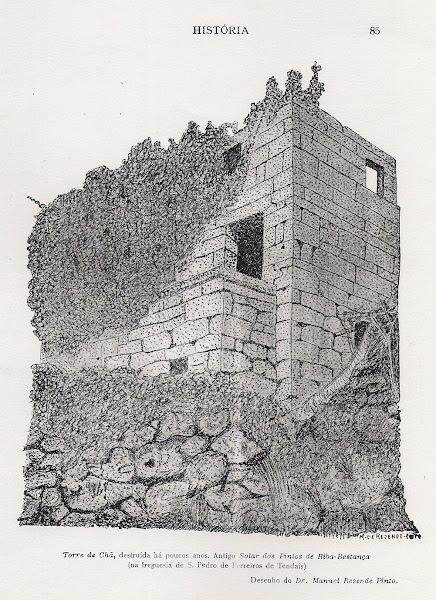 Desenho da Torre de Chã (ou Cham)
