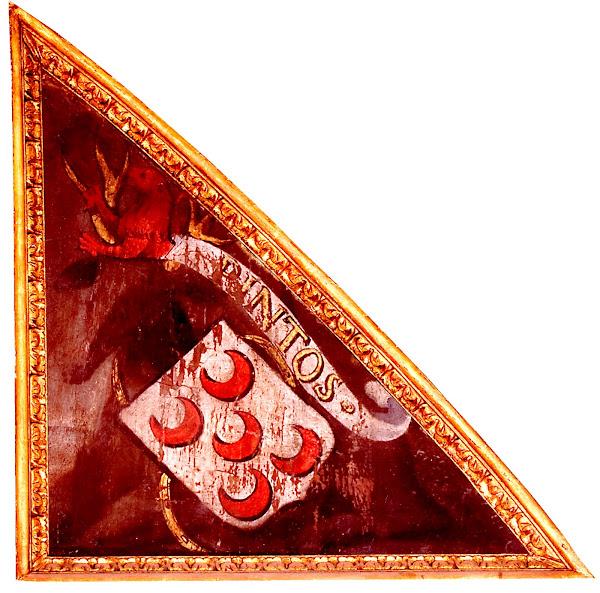 Brasão da família Pinto, no tecto do Palácio Nacional de Sintra