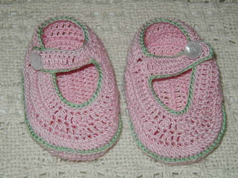 New Thing Crochet Crochet Pattern For Baby Mary Jane Booties