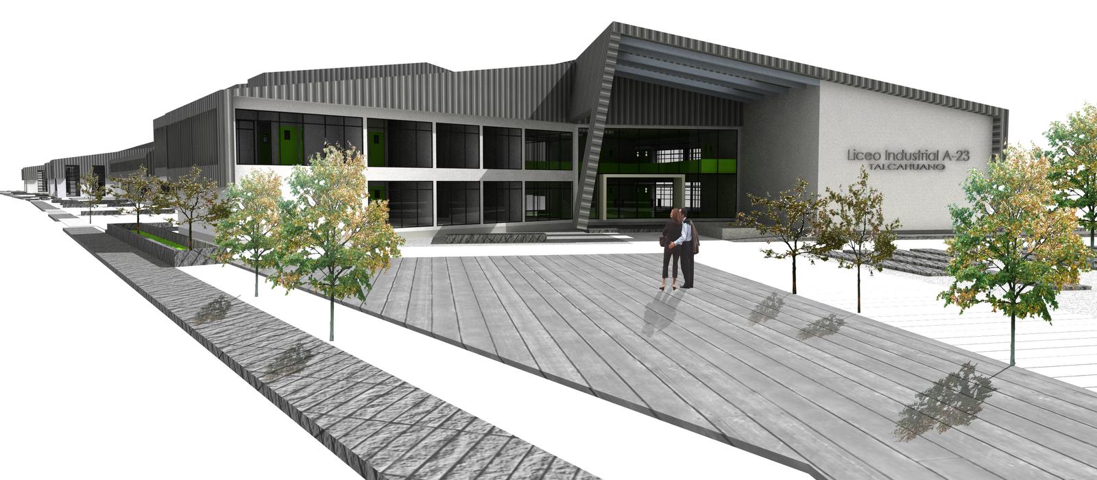 Ps arquitectura 3d proyecto reconstrucci n propuesta for Accesos arquitectura