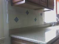 fancy backsplash tile with glass inserts