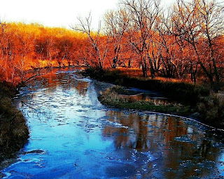 sunset on the Turkey River, Iowa * Photo courtesy of Spillville, IA