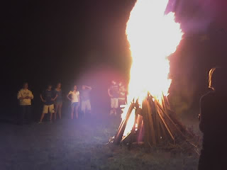 campfire goes beyond cozy at summer party
