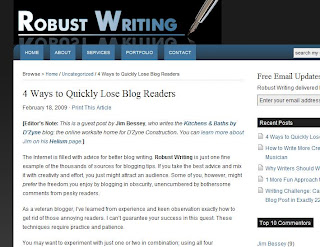 guest post on Robust Writing