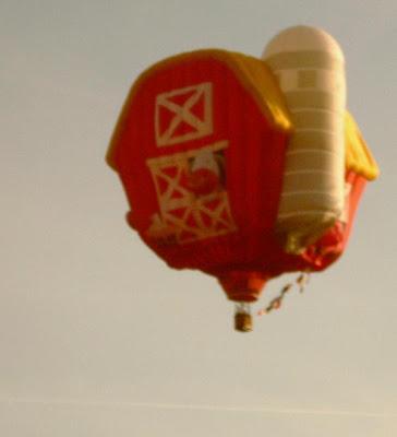 Dansville Balloon Fest barn balloon aloft