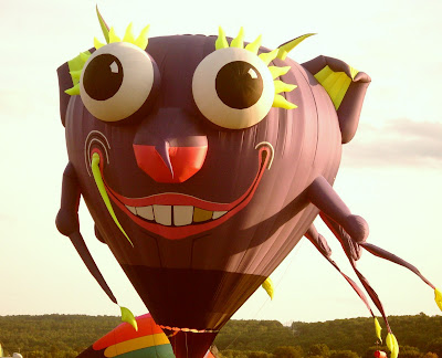 Dansville Balloon Fest purple people eater balloon