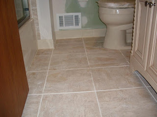 tricky bath floor tile layout