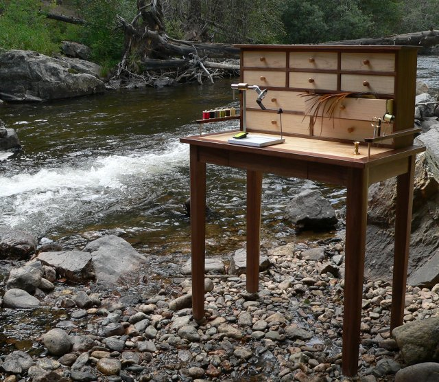 Little South Fork Fly Tying Bench Desk