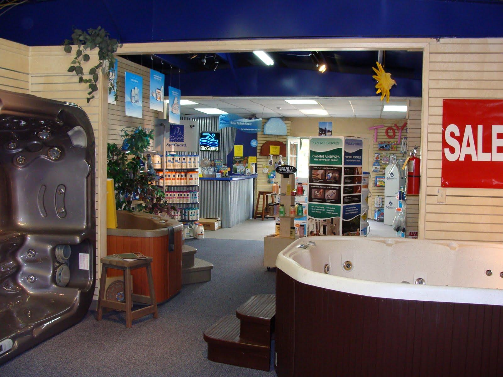 Sunshine 39 s news sunshine pool and spa showroom and store for Pool showrooms