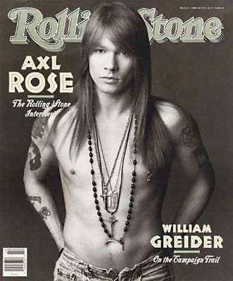 W. Axl Rose (born William Bruce Rose; February 6, 1962 in Lafayette,