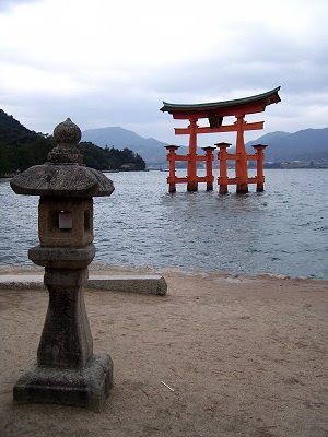 Das berühmte Torii im Meer