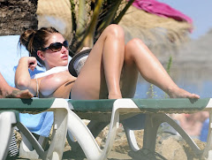 Lucy Pinder Topless At The Beach Sunbathing Her Massive Boobs Www